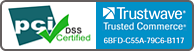 pci DSS Certified by Trustwave